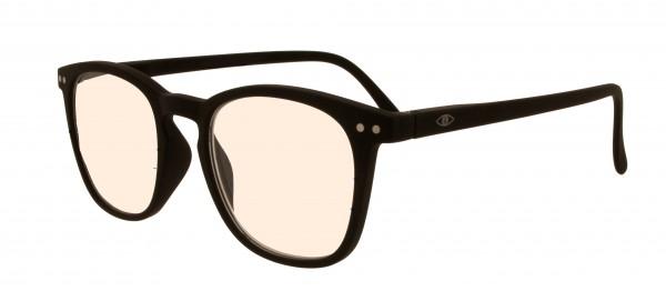Blaulichtfilterbrille Jim für Damen und Herren in der Farbe schwarz