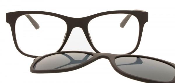 coole Clip on Fertigsonnenlesebrille in schwarz für Damen und Herren