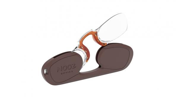 Nooz rechteckig Nasenbrille braun
